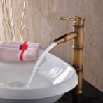 Wovier W-8276-A Waterfall Bathroom Sink Faucet,  Antique Brass