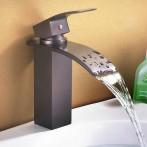 Wovier W-8228-ORB Waterfall Bathroom Sink Faucet, Oil Rubber Bronze