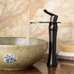 Wovier W-8364-ORB Waterfall Bathroom Sink Faucet, Oil Rubber Bronze Tall Body
