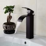 Wovier W-8227-ORB Waterfall Bathroom Sink Faucet, Oil Rubber Bronze