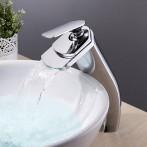 Wovier W-8221-C Waterfall Bathroom Sink Faucet, Chrome