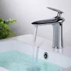 Wovier W-8360-C Waterfall Bathroom Sink Faucet, Chrome
