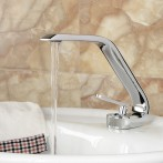 Wovier W-8348-C Waterfall Bathroom Sink Faucet, Chrome